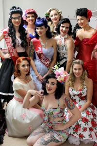 The Garterbelts and Gasoline Pinup Competition contestants for 2014.