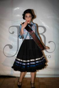 Posing with my finalist sash - Megan Rizzo Photography