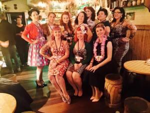 The Miss Pinup Australia 2015 Queensland entrants: Myself, the lovely Miss Emmy Cherrypi, Miss Ginger Pop, Miss Vonnie Violet, Miss Satine S'Allumer,