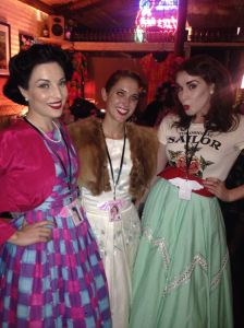 The QLD Miss Perfect Pinup entrants for 2015: Myself, the cute Miss Emmy Cherrypi and the sultry Miss Satine S'Allumer