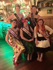 Past title holder Miss Red Devotchin, Miss Dee Meanour, Miss Mae Em, Miss Kitty Sapphire and Miss Jade Foxx